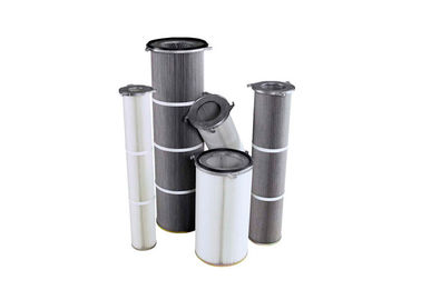 5um,0.5um,2um,0.2um 3 - Lug Flange Dust Filter Cartridge Replacement Good Abrasion Resistance